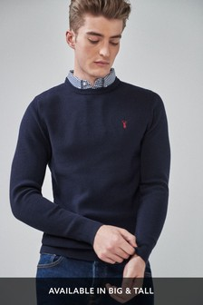 Blue Mock Shirt Jumper