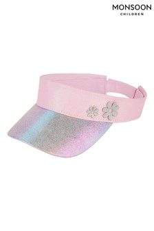 Monsoon Pink Metallic Rainbow Flower Visor