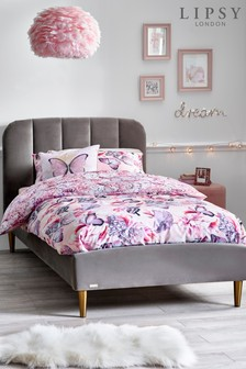Grey Lipsy Velvet Bed