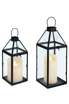 Set of 2 Black Lanterns by Outdoor Living Company