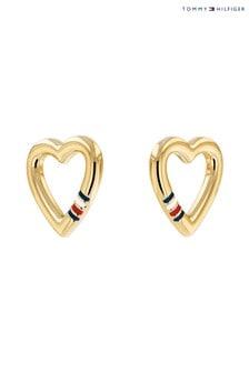 Tommy Hilfiger Gold Heart Earrings