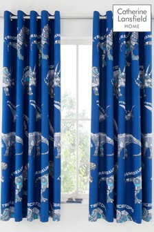 Dinobot Eyelet Curtains by Catherine Lansfield