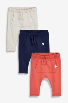 Navy/Stone/Red Joggers Three Pack (0mths-2yrs)