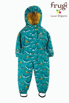 Frugi Blue Recycled Waterproof Padded All-In-One Suit