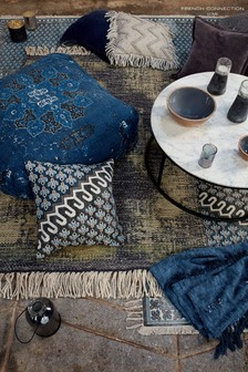 French Connection Blue Poppy Cushion