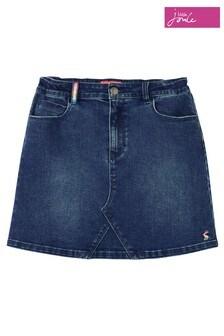 Joules Blue Hollis 5 Pocket Denim Skirt