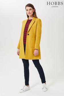 Hobbs Petite Yellow Corina Coat