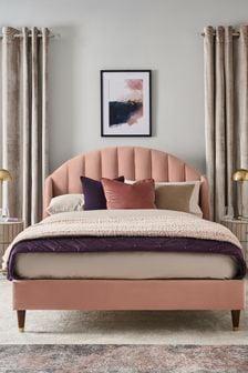 Opulent Velvet Blush Stella Bed