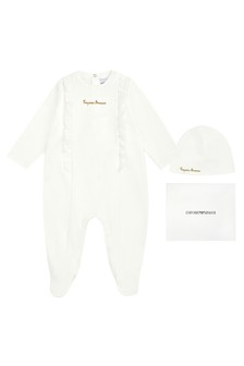 Emporio Armani Baby Girls White Gift Set