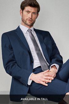 Bright Blue Regular Fit Stretch Tonic Suit: Jacket