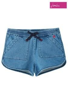 Joules Blue Becca Denim Shorts