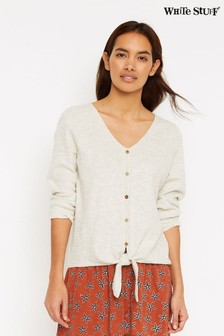 White Stuff Natural Summer Tie Organic Cotton Jumper