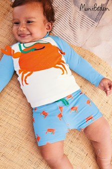Boden Blue Novelty Crab Rash Vest Set