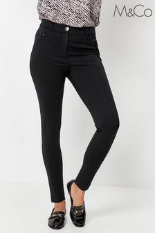 M&Co Black Skinny Fit Ponte Trousers