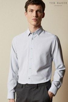 Ted Baker White Offme Geo Print Shirt
