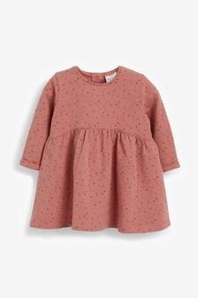 Rust Spot Sweat Dress (0mths-2yrs)