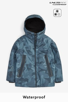 Blue Camo Fully Waterproof Jacket (3-17yrs)