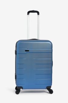 Blue Medium Hard Case With TSA Security Lock