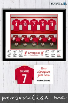 Personalised Liverpool Dressing Room Print by Personalised Football Gifts