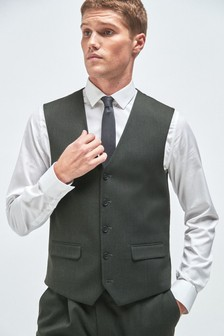 Green Donegal Suit: Waistcoat