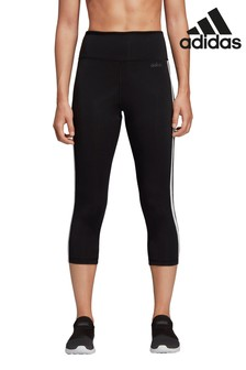 adidas Black D2M 3/4 Capri High Waisted Leggings