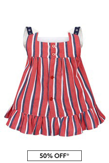 Miranda Baby Girls Red Cotton Dress