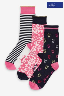 Joules Blue Bamboo Printed Socks Three Pack