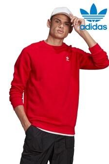 adidas Originals Red Essential Sweat Top