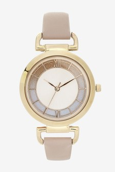 Pink Looped Shoulder Watch