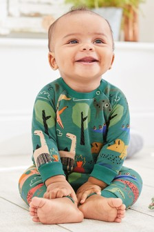 Green Dinosaur Jumper And Joggers Co-ord Two Piece Set (0mths-2yrs)