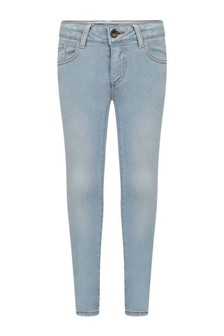 Girls Light Blue Wash Skinny Fit Jeans