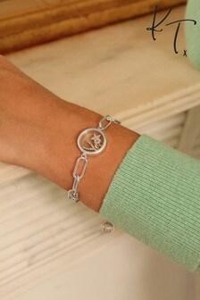 Kate Thornton Silver Floating Locket 'Be Kind' Bracelet