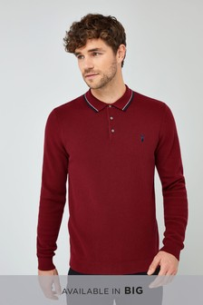 Burgundy   Tipped Polo