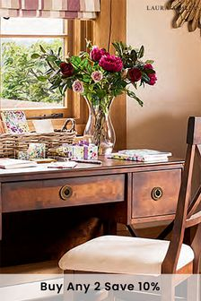 Balmoral Dark Chestnut 3 Drawer Desk by Laura Ashley