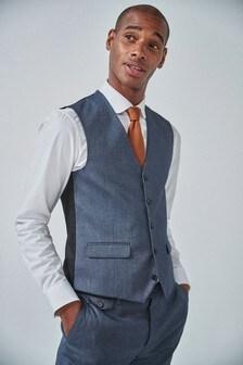 Blue Donegal Suit: Waistcoat