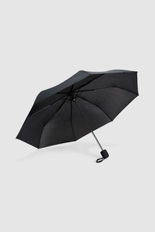 Black Umbrella With Easy Grip Handle