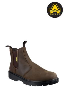 Amblers Safety Brown FS128 Hardwearing Pull-On Safety Dealer Boots