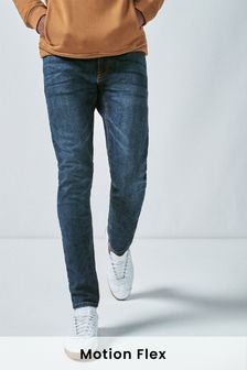 Mid Blue Skinny Fit Motion Flex Stretch Jeans