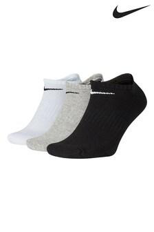 Nike Adult Multi Everyday Cushioned Trainer Socks Three Pack