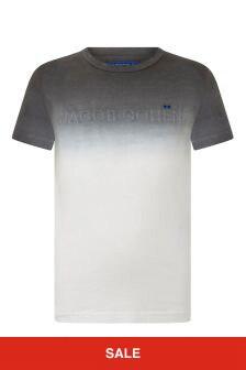 Boys White Tie-Dye Logo T-Shirt