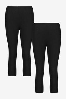 Black Cropped Leggings 2 Pack
