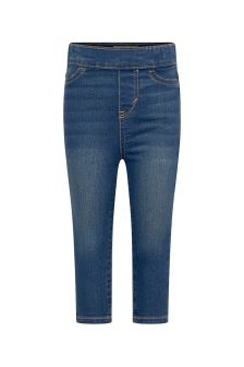 Baby Girls Blue Cotton Blend Jeans