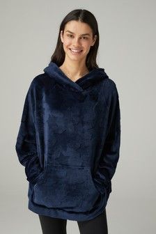 Navy Star  Carved Snuggle Top
