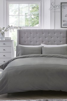 Serene Amalfi Easy Care Pintuck Detail Duvet Set by Serene