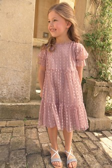 Pink Tiered Tulle Dress (3-16yrs)