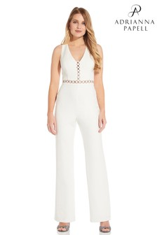 Adrianna Papell Racer Back Jumpsuit
