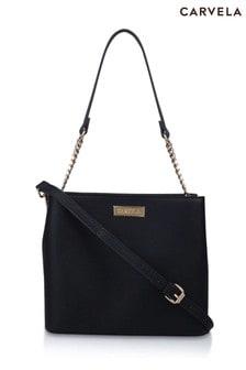 Carvela Black Halo Mini Bucket Bag