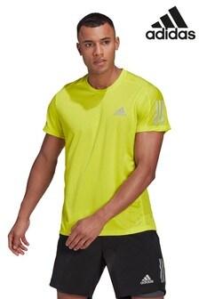 adidas Yellow Own The Run T-Shirt