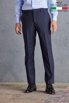 Navy Regular Fit Signature Suit: Trousers