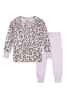 Baby Girls Organic Cotton Pink Pyjamas Two Pack